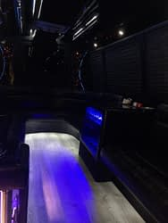 black limo bus Interior