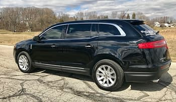 Black Lincoln MKT side view