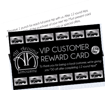 VIP customer reward card